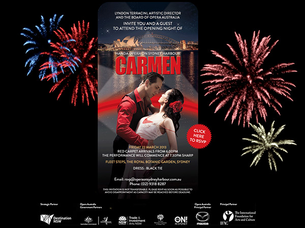 HANDA Opera on SYdney Harbour e-invite